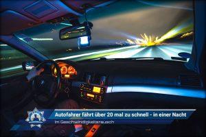 Im Geschwindigkeitsrausch: Autofahrer fährt über 20 mal zu schnell - in einer Nacht