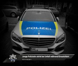 Wir trauern: Junge Polizistin stirbt bei Unfall während Einsatzfahrt