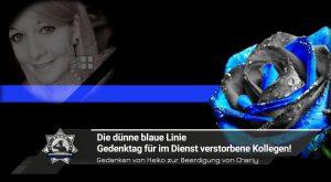 Gedanken von Heiko zur Beerdigung von Charly: Die dünne blaue Linie