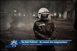 Gedanken eines Polizisten: Du bist Polizist – du musst das wegstecken!