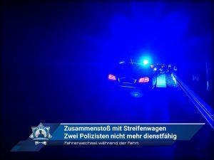 Fahrerwechsel während der Fahrt: Zusammenstoß mit Streifenwagen - Zwei Polizisten nicht mehr dienstfähig