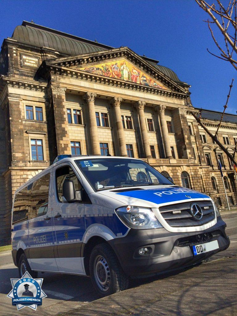 Gruß von der Dresdener Bereitschaftspolizei