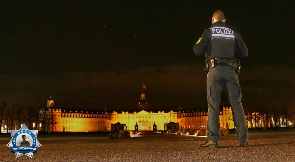 """""""Hallo, liebe Grüße vom Nachtdienst aus Karlsruhe. Mein Praktikant Jonas von der Polizeihochschule in Villingen musste mal kurz stillhalten 😅 Adrian"""""""