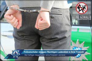 Bei heftiger Gegenwehr eine Polizistin verletzt: Polizeischüler stoppen flüchtigen Ladendieb in ihrer Freizeit