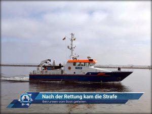 Betrunken vom Boot gefallen: Nach der Rettung kam die Strafe