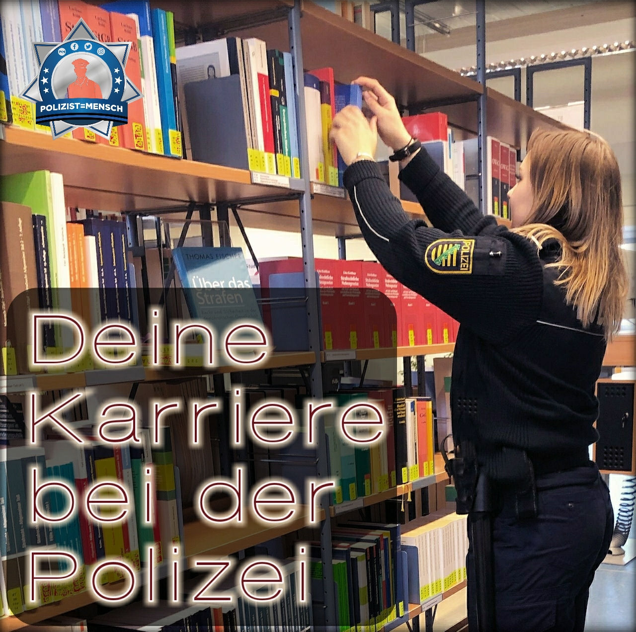 Euer Foto auf Polizist=Mensch