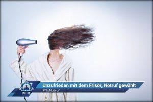 #NoNotruf: Unzufrieden mit dem Frisör, Notruf gewählt