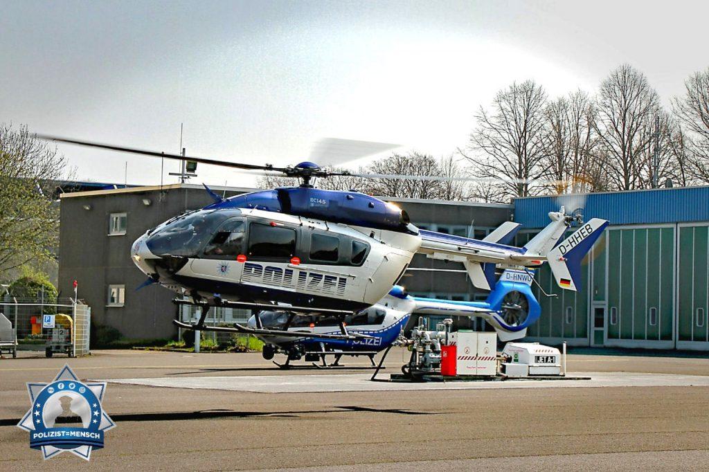 Polizeihubschrauber Hessen zu Besuch in Nordrhein-Westfalen