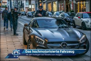 Mit den Kollegen auf Streife (von Holger): Das hochmotorisierte Fahrzeug
