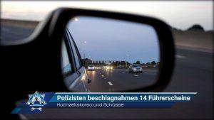 Hochzeitskorso und Schüsse: Polizisten beschlagnahmen 14 Führerscheine