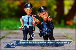 Kurios oder dümmer als die Polizei erlaubt: Besuch der Polizei endet zweimal unplanmäßig