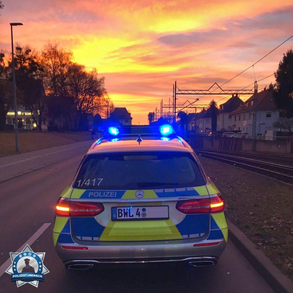 """""""Unfallaufnahme bei Sonnenuntergang, viele Grüße aus Stuttgart Weilimdorf."""""""