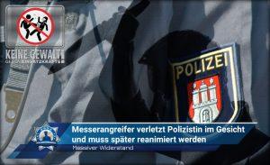 Massiver Widerstand: Messerangreifer verletzt Polizistin im Gesicht und muss später reanimiert werden