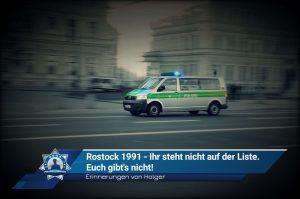Erinnerungen von Holger: Rostock 1991 – Ihr steht nicht auf meiner Liste, Euch gibt's nicht!