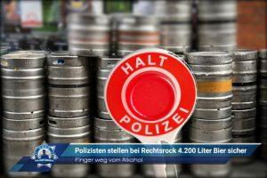Finger weg vom Alkohol: Polizisten stellen bei Rechtsrock 4.200 Liter Bier sicher