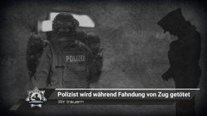 Wir trauern: Polizist wird während Fahndung von Zug getötet