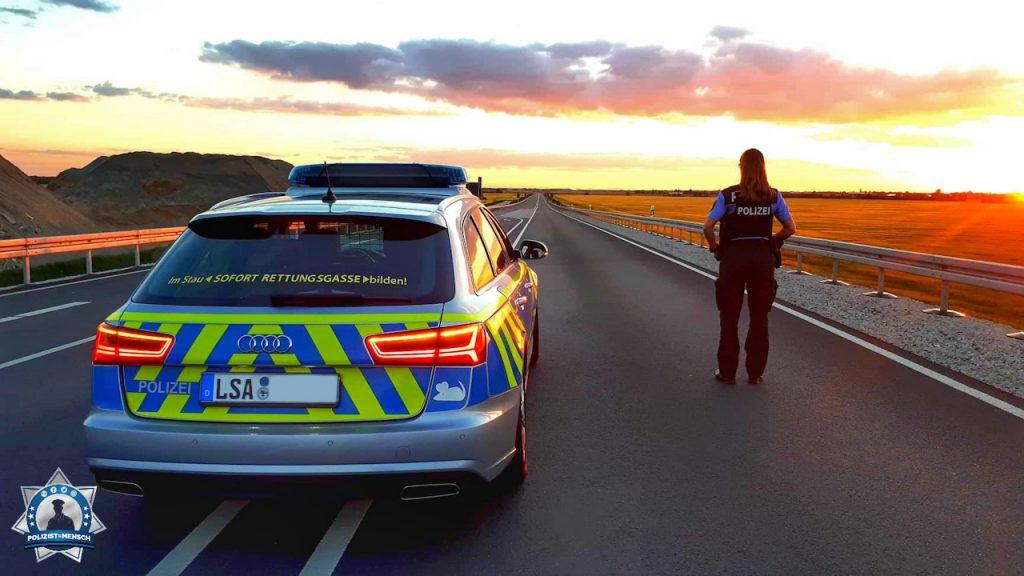Unser Titelbild für Ende Juli kommt aus der Spätschicht von Sandra von der Autobahnpolizei Dessau in Sachsen-Anhalt.
