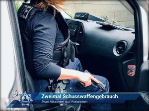 Zwei Attacken auf Polizisten: Zweimal Schusswaffengebrauch