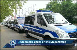 Verfolgungsdruck erhöht: Grossrazzia gegen offene Drogenszene