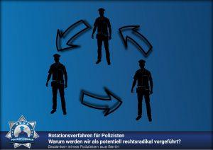 Gedanken eines Polizisten aus Berlin: Rotationsverfahren für Polizisten - Warum werden wir als potentiell rechtsradikal vorgeführt?