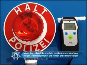 Dümmer als die Polizei erlaubt: Mann fährt ohne Führerschein zur Gerichtsverhandlung wegen Trunkenheitsfahrt und fahren ohne Führerschein