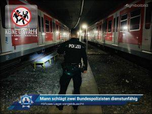 Hilflose Lage vorgetäuscht: Mann schlägt zwei Bundespolizisten dienstunfähig