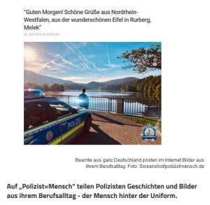 Polizist=Mensch in den Medien: Einblicke in den Alltag von Polizisten