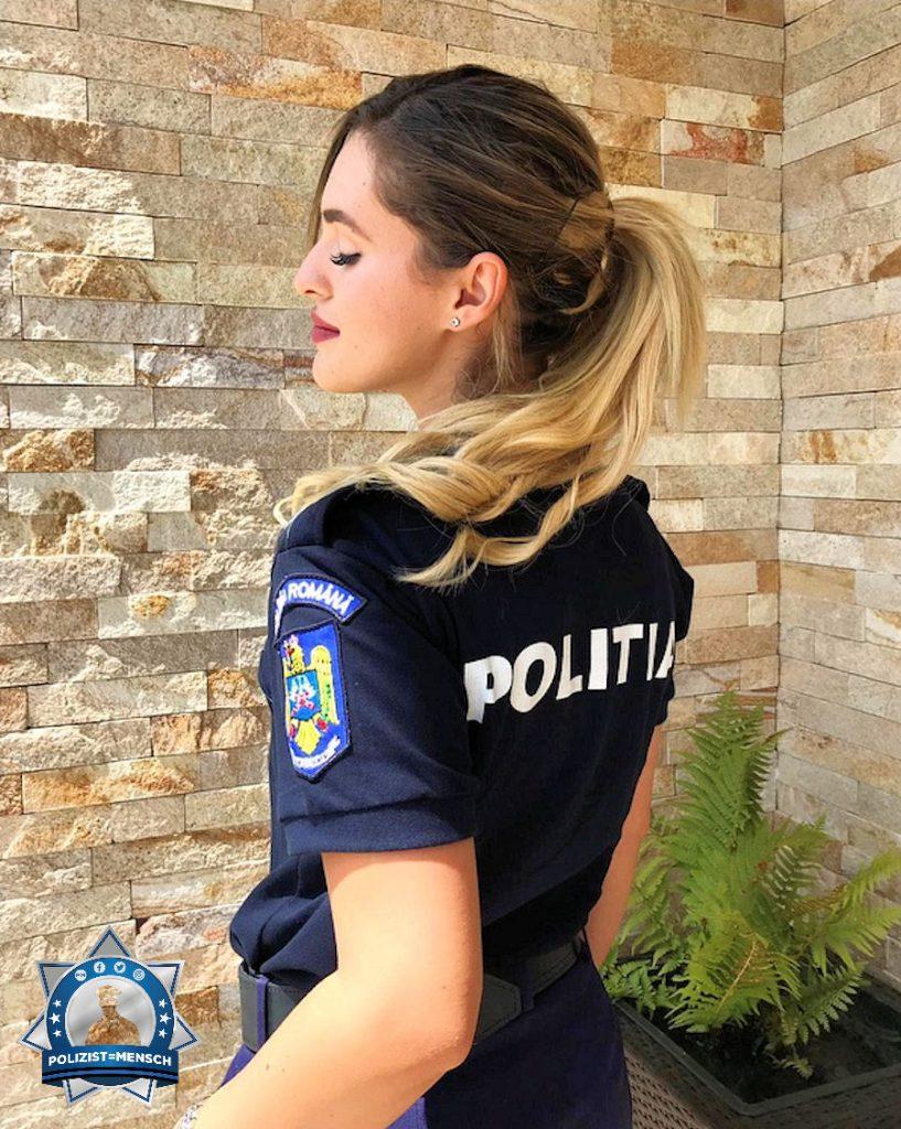 """""""Ich wünsche euch ein sicheres Wochenende und allen Kollegen, die wie ich im Dienst sind: Kommt gesund nach Hause. Grüße von der Rumänischen Polizei, Andreea"""""""