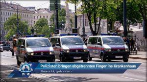 Gesucht, gefunden: Polizisten bringen abgetrennten Finger ins Krankenhaus