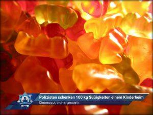 Diebesgut sichergestellt: Polizisten schenken 100 kg Süßigkeiten einem Kinderheim