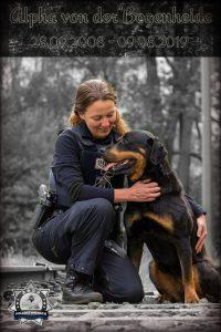 Polizei Berlin nimmt Abschied von einer vierbeinigen Kollegin