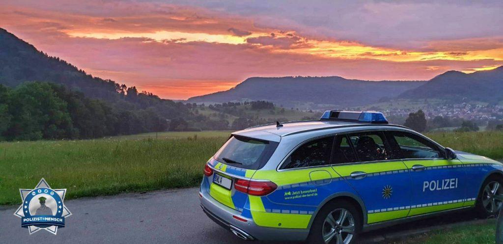 """""""Mit einem Sonnenaufgang aus der Nachtschicht verabschiedet. Grüße aus dem PP Reutlingen."""""""