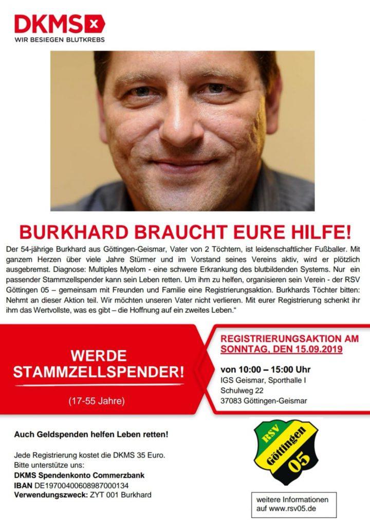 Stammzellspender gesucht: Kollege Burkhard möchte weiterleben