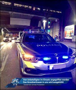 Gedanken eines Polizisten: Von Unbeteiligten im Einsatz angegriffen worden - Das Grundvertrauen in uns wird ausgehöhlt