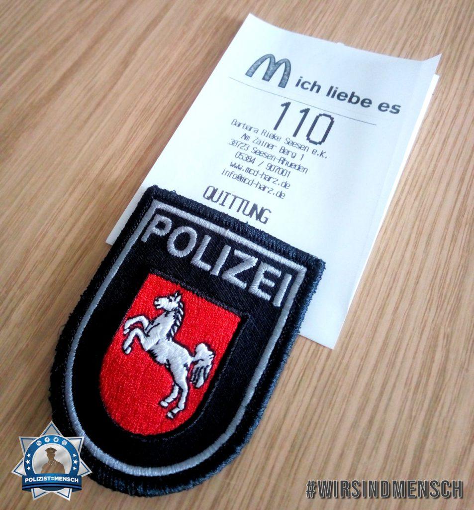 """""""Wenn die Polizei ein Hüngerchen hat. Grüße aus Seesen!"""""""