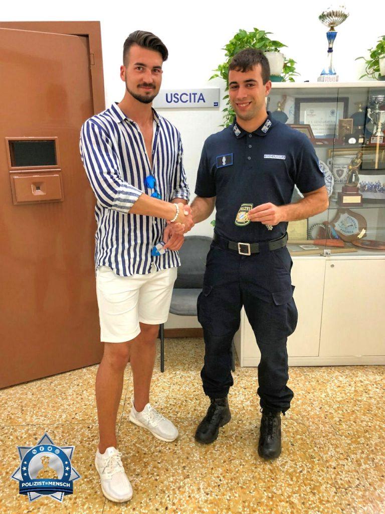 """""""Viele Grüße aus San Marino, wo ich mit dem Kollegen Patches getauscht haben, Stefan"""""""