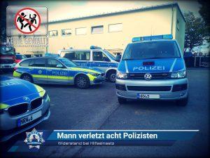 Widerstand bei Hilfseinsatz: Mann verletzt acht Polizisten
