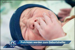 Geburtsort Polizeiinspektion: Polizisten werden zum Geburtshelfer