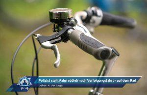 Leben in der Lage: Polizist stellt Fahrraddieb nach Verfolgungsfahrt - auf dem Rad