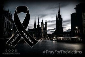 Anschlag in Halle: Zwei Tote, zwei Verletzte, Großeinsatz der Polizei