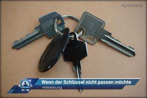 Hilfeleistung: Wenn der Schlüssel nicht passen möchte