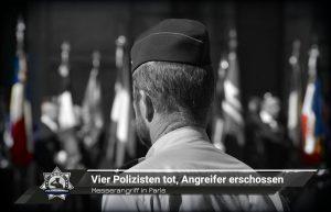 Messerangriff in Paris: Vier Polizisten tot, Angreifer erschossen