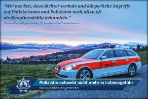 Von Autodieb angefahren: Polizistin schwebt nicht mehr in Lebensgefahr