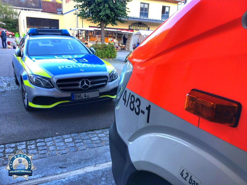 """""""Hallo, die Zusammenarbeit zwischen Rettungsdienst und Polizei ist im Landkreis Lörrach eng ☺️. Grüße aus Schönau, Janine"""""""