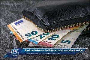 Ehrliche Finderin gibt Fundsache bei Polizei ab: Besitzer erhält Geldbörse zurück und eine Anzeige
