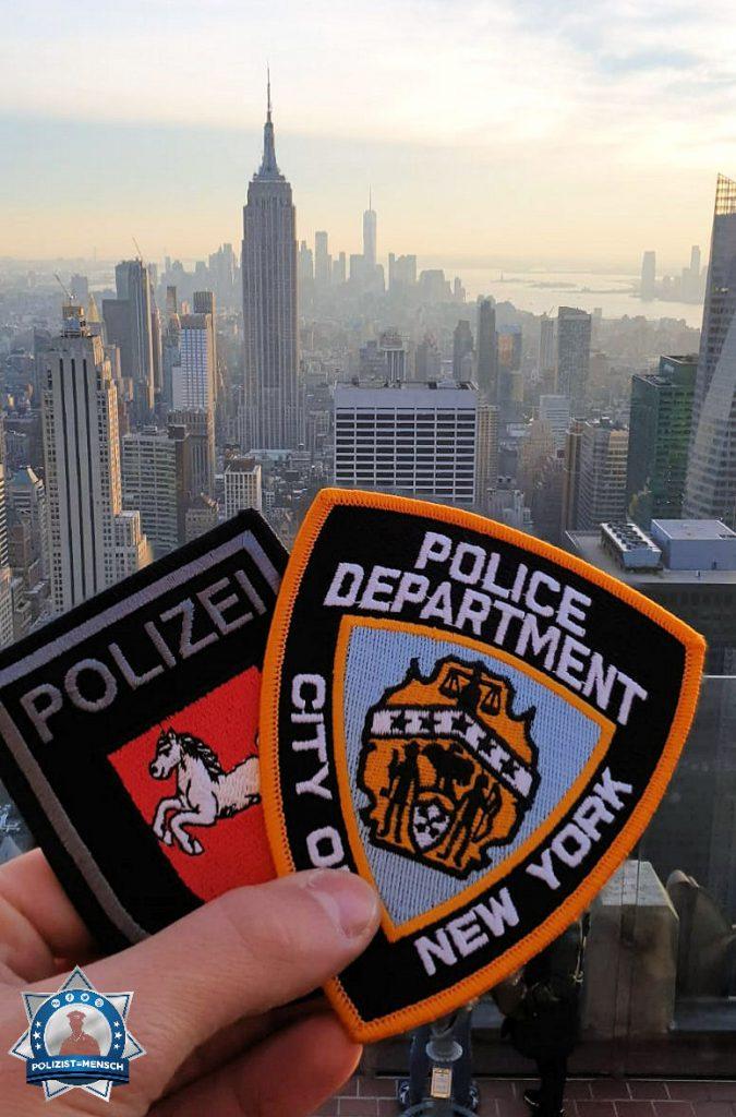 """""""Schöne Grüße aus New York, liebes Polizist=Mensch-Team!"""""""