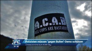 """Linksautonome zum ACAB-Day: Polizisten müssen """"gegen Bullen""""-Demo schützen"""