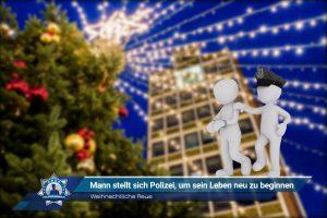Weihnachtliche Reue: Mann stellt sich Polizei, um sein Leben neu zu beginnen