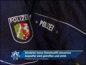 Messerangriff auf Polizisten: Anwärter muss Dienstwaffe einsetzen - Angreifer wird getroffen und stirbt