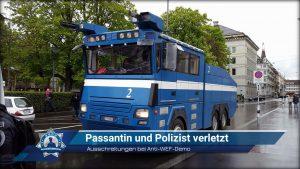 Ausschreitungen bei Anti-WEF-Demo: Passantin und Polizist verletzt